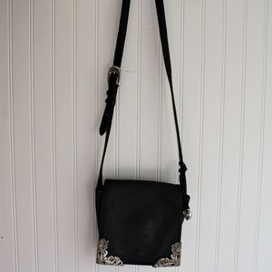 Brighton Leather Crossbody Saddle Purse Bundle